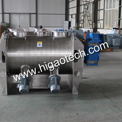 horizontal ribbon blender with choppers