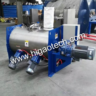 horizontal ploughshare mixer for powder mixing