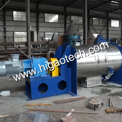 horizontal plowshare mixer with oil spray system